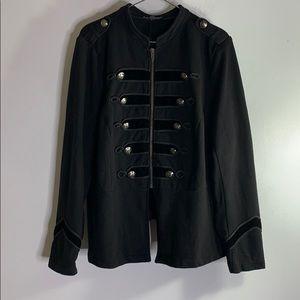 Torrid black double button zip down jacket